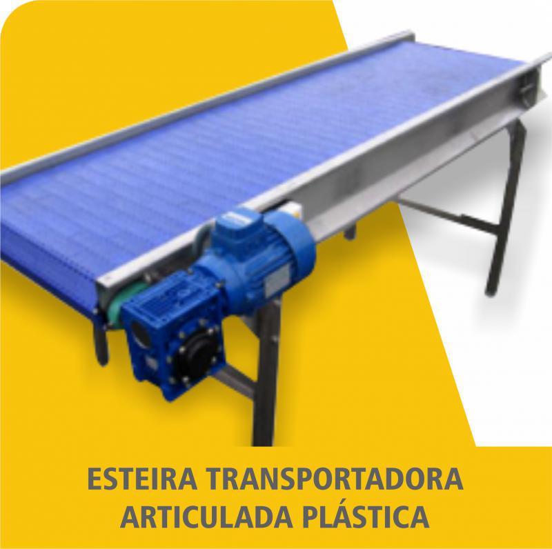 Esteira Transportadora Articulada Plástica