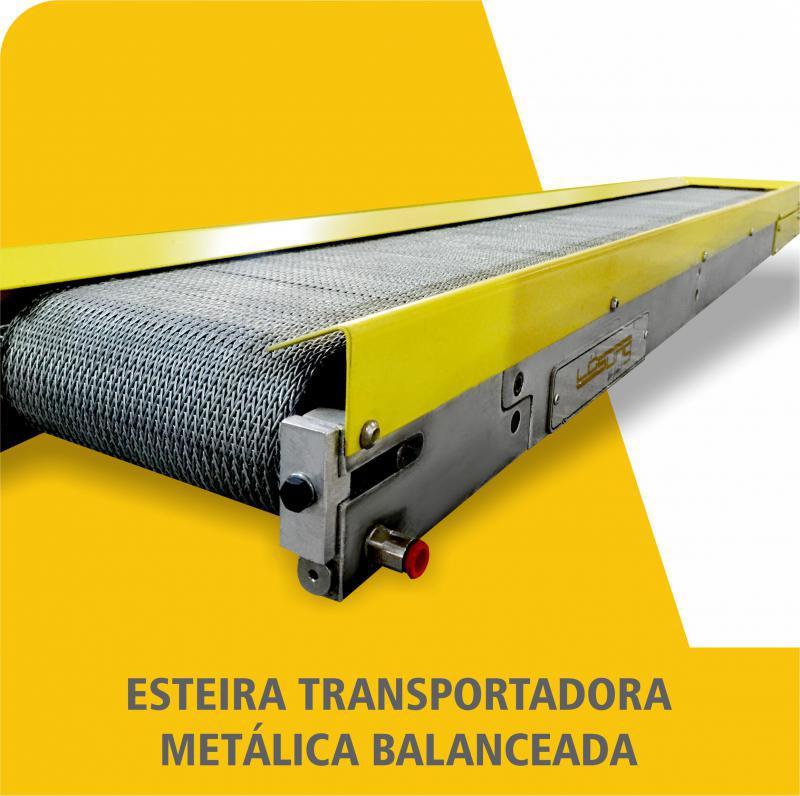 Esteira Transportadora Metálica Balanceada